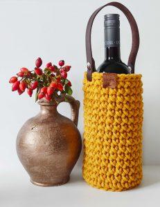 mome horgolt bortartó ajándék